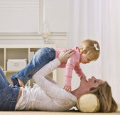 Woman Playing with Daughter — Stock Photo