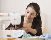 Beautiful Girl Sewing — Stock Photo