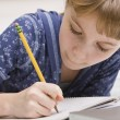 Young Girl Writing — Stock Photo