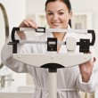 Woman Checking Weight — Stockfoto