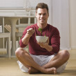 Man with bowl of salad — Stock Photo #18782597