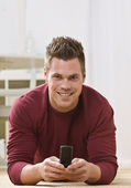 Man on Cellphone — Stock Photo
