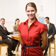 Stock Photo: Businesswoman smiling