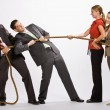 Business playing tug-of-war — Stock Photo #18798015