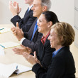 Business clapping in meeting — Stock Photo #18799607