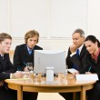 Business in video meeting — Stock Photo #18799747