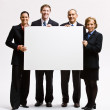 Business holding blank paper — Stock Photo #18799795