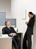 Business talking together — Stock Photo