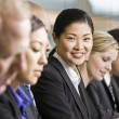 Stock Photo: Businesswomat Meeting Smiling