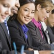 Businesswoman at Meeting Smiling — Stock Photo #18800529