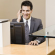 Young Man in Suit Talking on Phone — Stock Photo #18800689