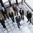 Business in Office Lobby — Stock Photo