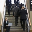 Businesswoman Sitting on Stairs — Photo