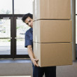 Young Man Delivering Boxes — Stock Photo #18801489