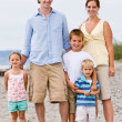 Family at beach — Stock Photo #18803591
