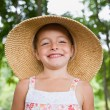 Girl in sunhat — Stock Photo