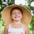 Stock Photo: Girl in sunhat
