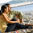 Couple enjoying beach — Stock Photo #18803815