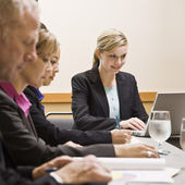 Man and Women at Business Meeting — Stock Photo