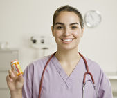 Young Female Medical Professional — Stock Photo