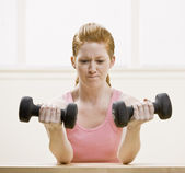 Young Woman Working Out — Stockfoto
