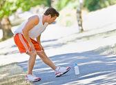Runner stretching — Stock Photo
