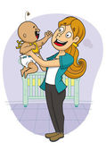 Woman with baby — Stock Vector