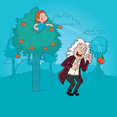 Isaac Newton — Stock Vector