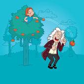 Isaac Newton — Stock Vector