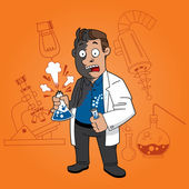 Scientist in chemical lab — Stock Vector