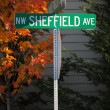 NW Sheffield Avenue — Stock Photo