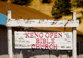 Keno Open Bible Church — Stock Photo