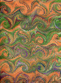 Renaissance/Victorian Marbled Paper 12 — Stock Photo
