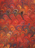Renaissance/Victorian Marbled Paper 6 — Stock Photo
