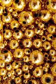 Gold Beads, Background — Stock Photo