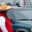 The Man in the Wide Sombrero - Stock Photo