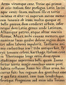 Latin Calligraphy (from Virgil — Stockfoto