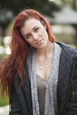 Young Woman with Beautiful Auburn Hair — Stock Photo