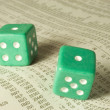Craps on Stock Tables — Stock Photo #17845687