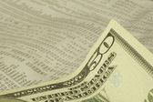 Stock tavoli e banconota da cinquanta dollari — Foto Stock