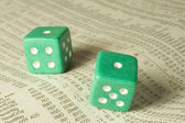 Craps on the Stock Tables — Stock Photo