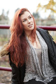 Young Woman with Beautiful Auburn Hair — Стоковое фото