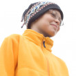 Boy in Ski Hat and Fleece Pullover - Stock Photo
