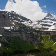 Two Peaks, Glacier National Park — Stock Photo
