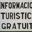 Free Tourist Information or Informacion Turistica Gratuita - Stock Photo