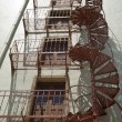 Foto Stock: Unusual Circular Fire Escape