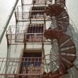 图库照片: Unusual Circular Fire Escape