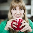 Young Woman Making an Ugly Face — Stock Photo #18812501