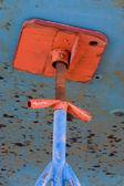 Barco de pesca, doca seca — Foto Stock