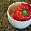 Red Bell Pepper in White Bowl — Stock Photo #19184121